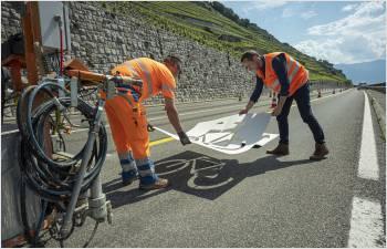 Des bandes cyclables marquées sur 100 km de routes hors localités