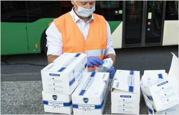 Distribution de masques pour les bénéficiaires d'une prestation sociale