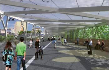 La passerelle Rayon Vert se pose en gare de Renens